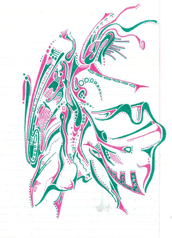 Dancer - ink