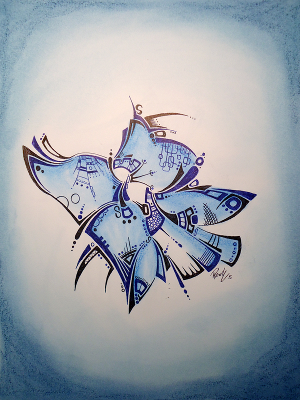Blue Butterfly - Donated