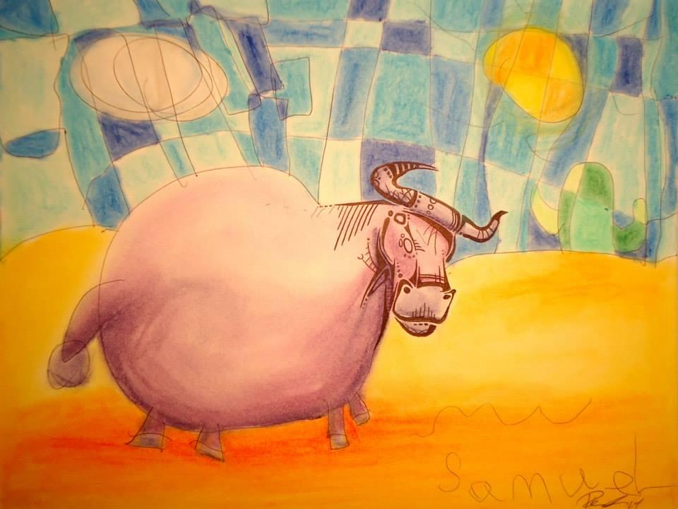 Toreador - Ink & Pastels - sold