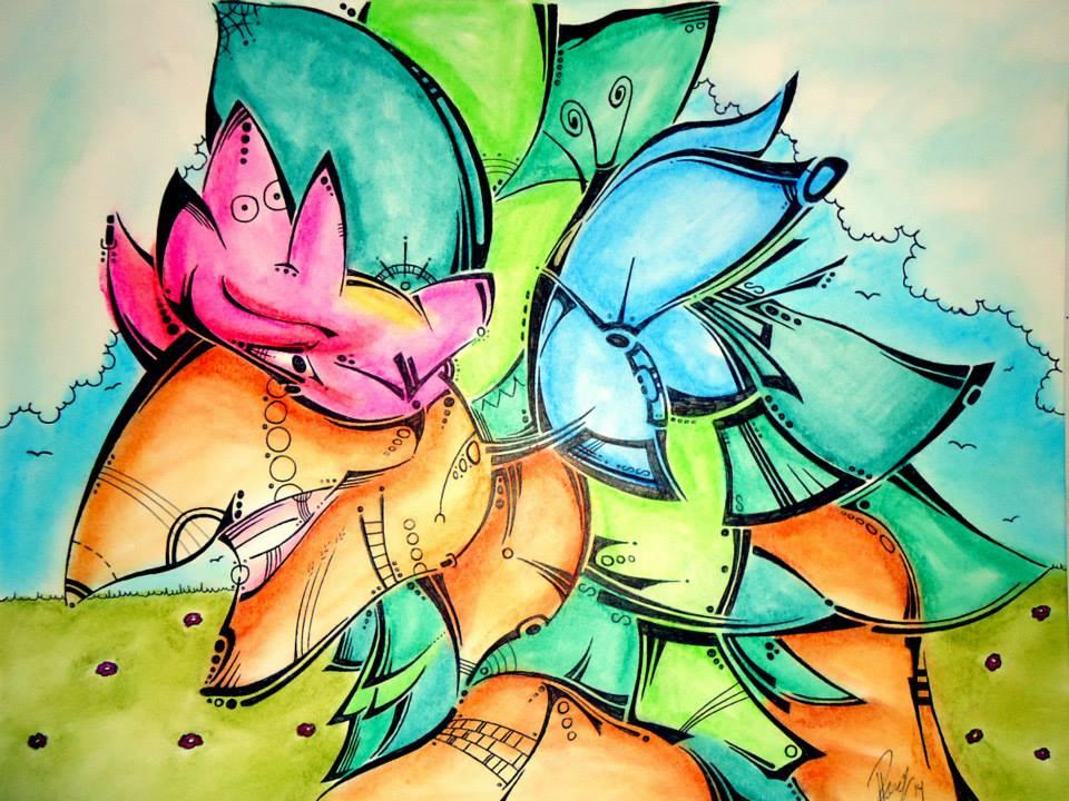 De belles couleurs et compositions
