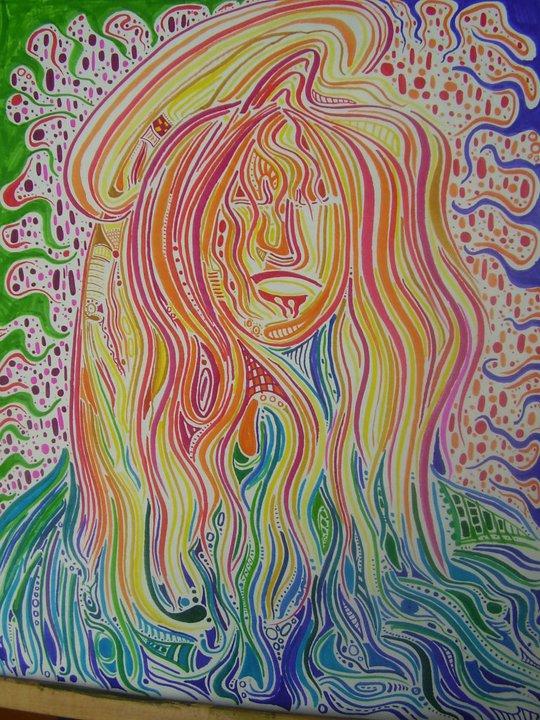 Mary - Felt pens