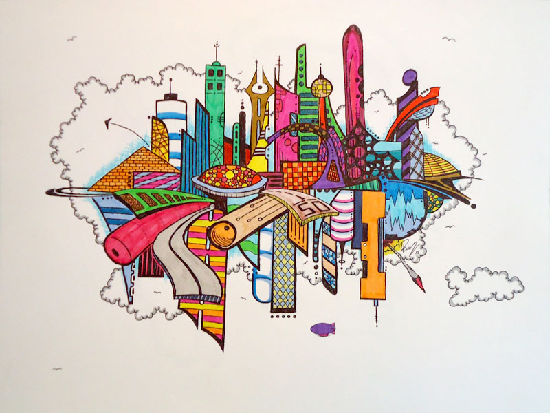 Color town - Ink