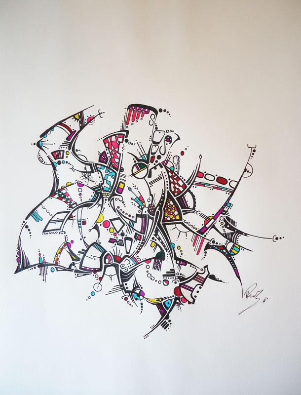 Strange - 11x14 - Ink - 210$