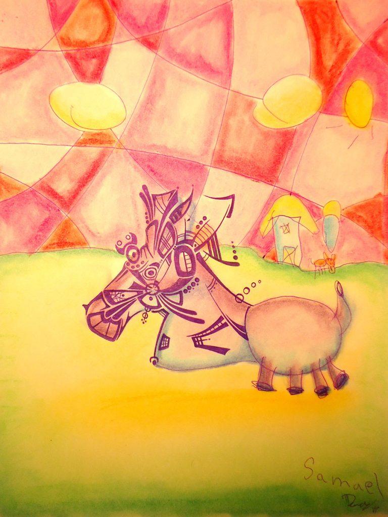Mulan - Ink & Pastels