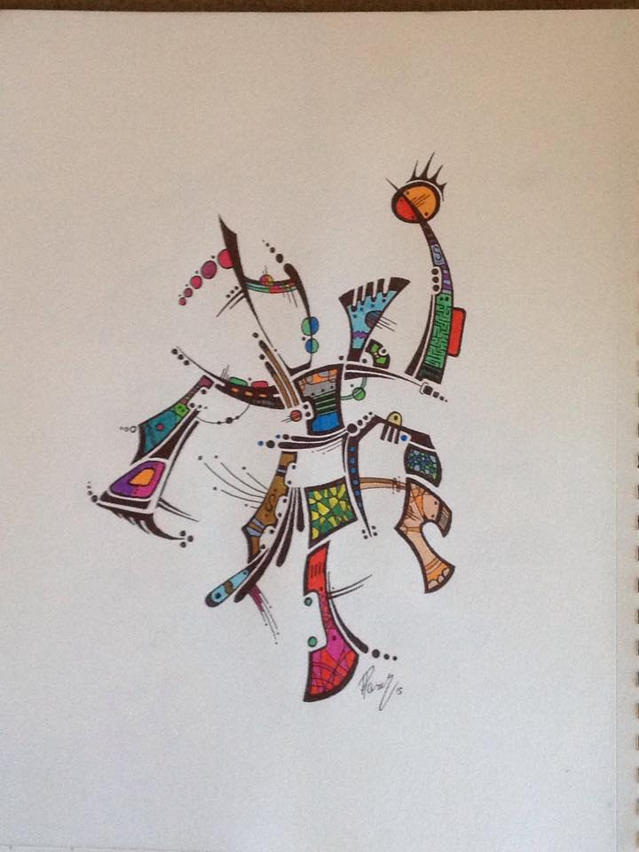 Tribal dance - Ink - DONATED