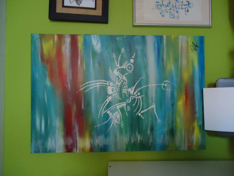 Crab - acrylic on canvas