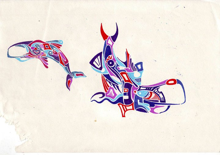 Whales - Ink - Sold