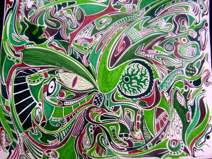 Swamp thing - Felt pens