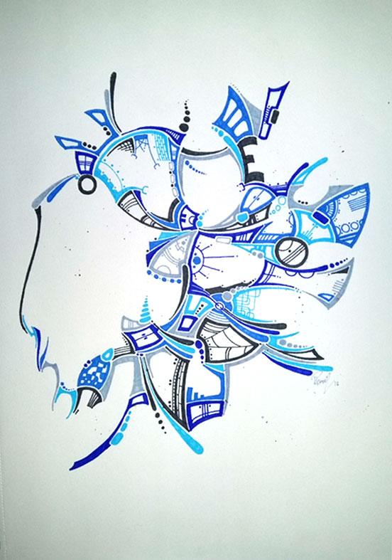 """Dog lover - Ink - 15x21"""""""