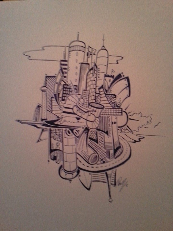 Float city 3 - Ink - No longuer available in B/W